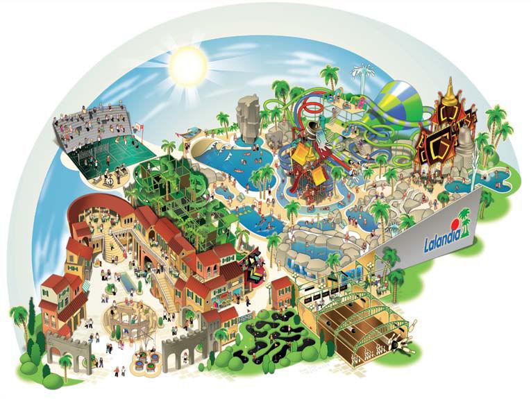 kort over Legoland smag
